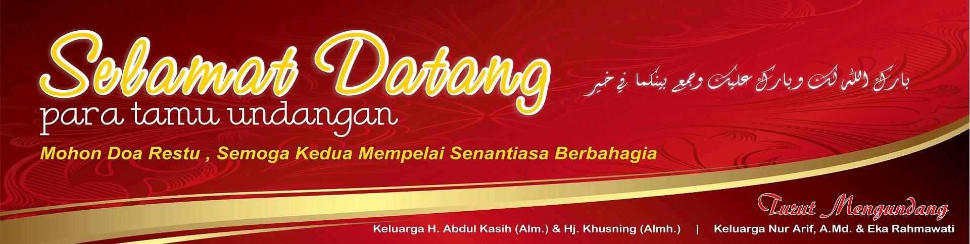 Design x banner pernikahan - Wedding 5