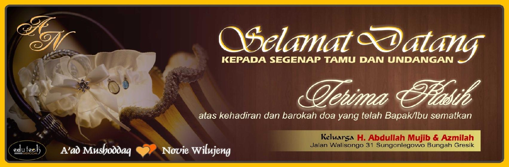 Design x banner pernikahan - Wedding 7