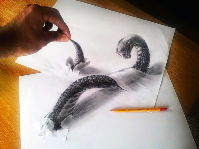 15 Seri Gambar Pensil 3D Terbaik