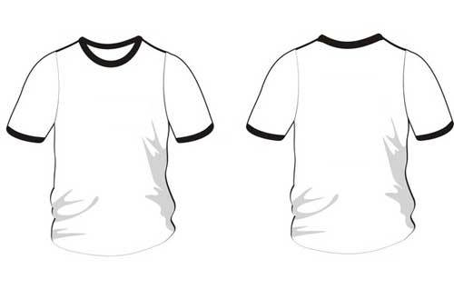 Kaos Desain Depan Belakang Polos